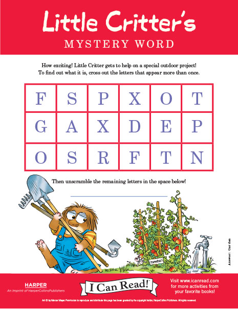 Little Critter's Mystery Word