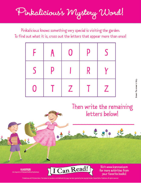 Pinkalicious' Mystery Word