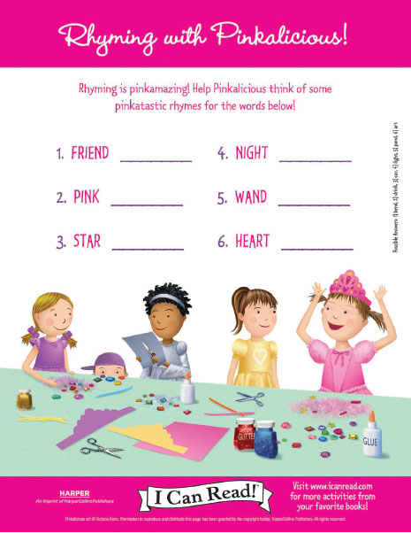 Rhyming with Pinkalicious