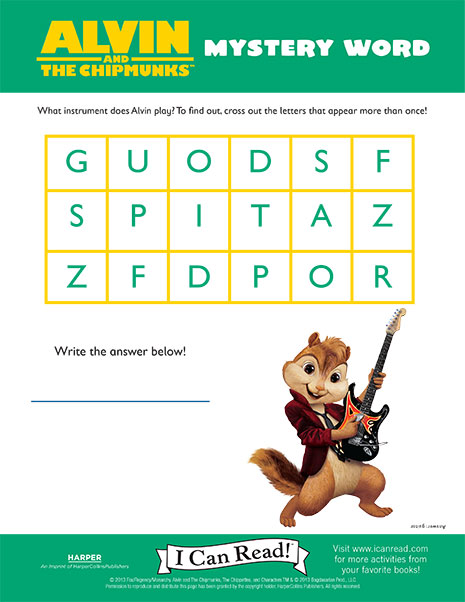 Alvin and the Chipmunks' Mystery Word
