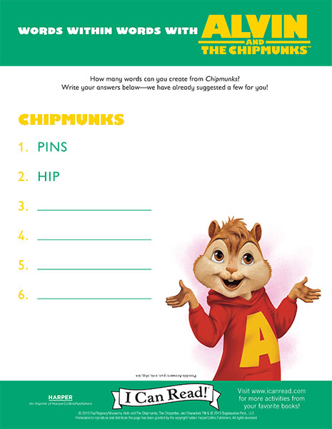 Words within Words with Alvin and the Chipmunks