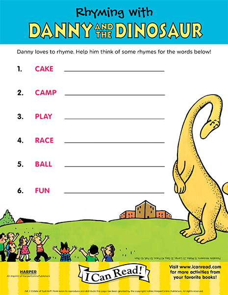 Rhyming with Danny and the Dinosaur
