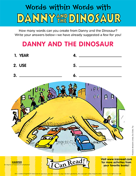 Words Within Words with Danny and the Dinosaur