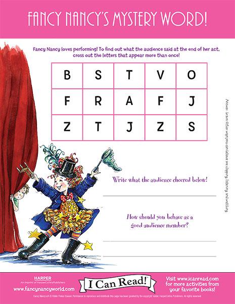 Fancy Nancy's Mystery Word