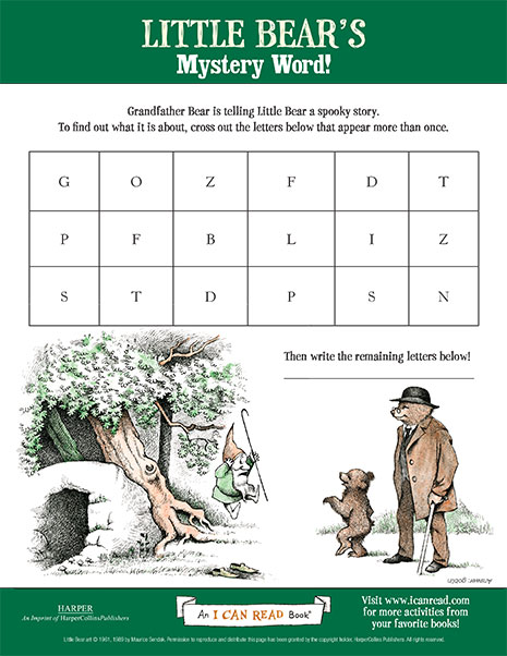 Little Bear's Mystery Word