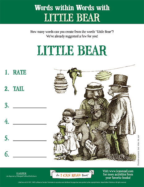Words within Words with Little Bear