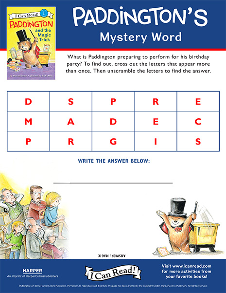 Paddington's Mystery Word