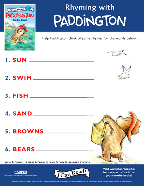 Rhyming with Paddington