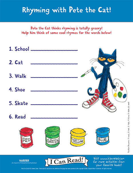 Rhyming with Pete the Cat