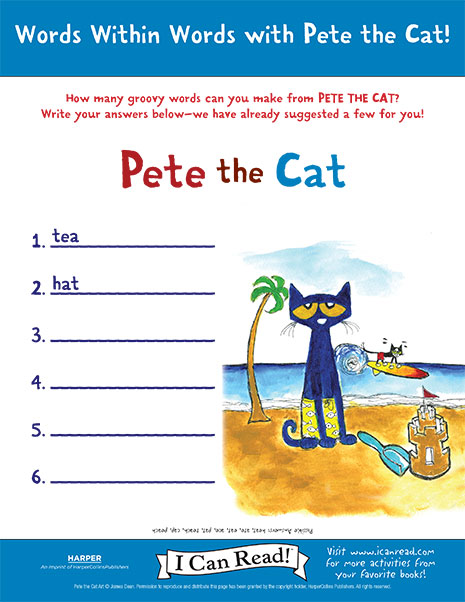 Words within Words with Pete the Cat
