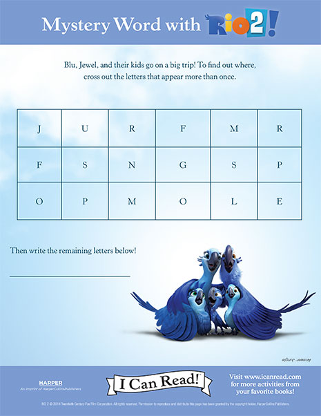 Rio 2's Mystery Word