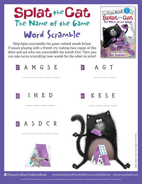 Word Scramble with Splat the Cat