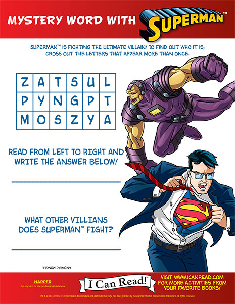 Superman's Mystery Word