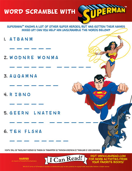 Word Scramble with Superman
