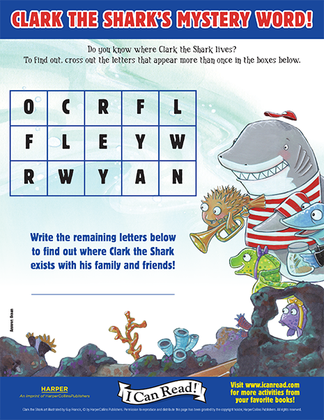 Clark the Shark's Mystery Word