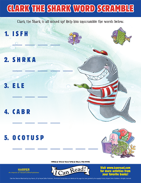 Clark the Shark Word Scramble