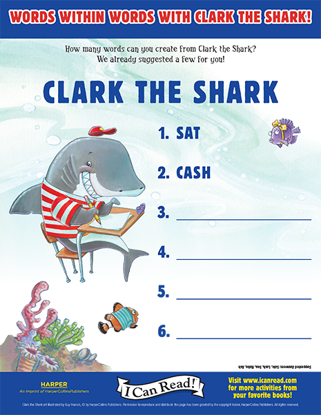 Words Within Words with Clark the Shark