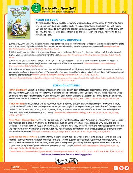The Josefina Story Quilt – Teacher's Guide