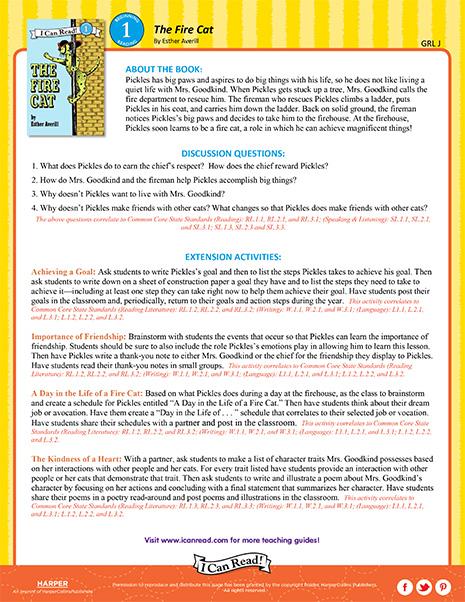 The Fire Cat – Teacher's Guide