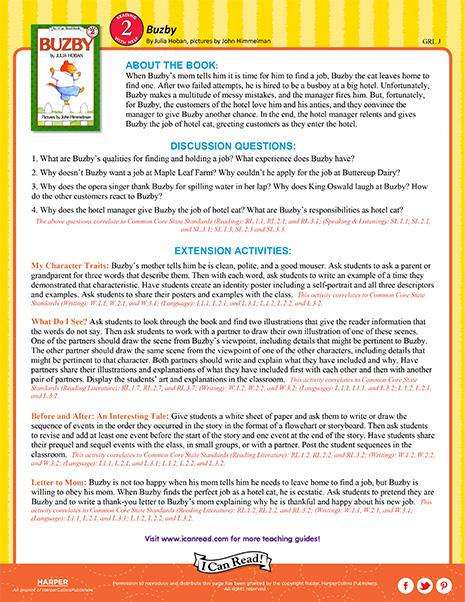 Buzby – Teacher's Guide