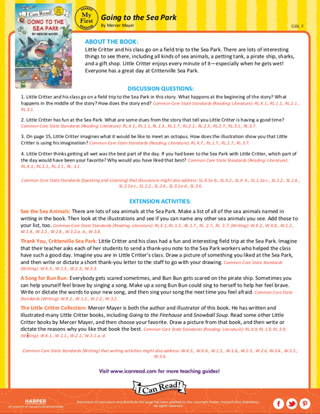 Going to the Sea Park – Teacher's Guide