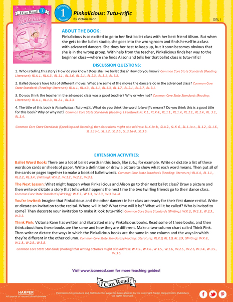 Pinkalicious: Tutu-rrific – Teacher's Guide