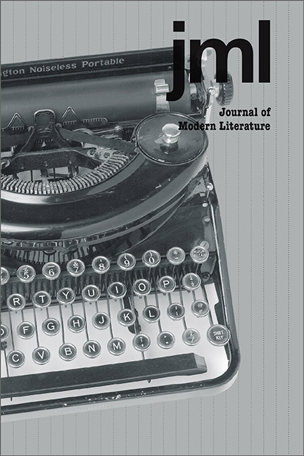 Journal of Modern Literature cover image