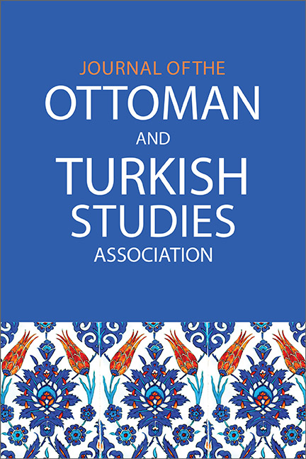 Journal of the Ottoman and Turkish Studies Association cover image