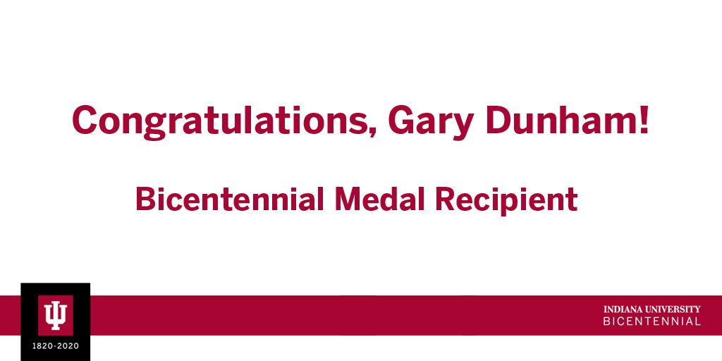 IU Press Director Gary Dunham Receives the Bicentennial Medal