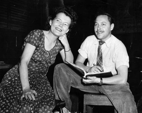 Tennessee Williams with his sister Rose Williams