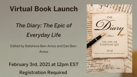 The Diary: Book Launch on Feb. 2, 2021, for The Epic of Everyday Life