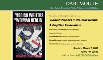 Yiddish Writers in Weimar Berlin: A Fugitive Modernism