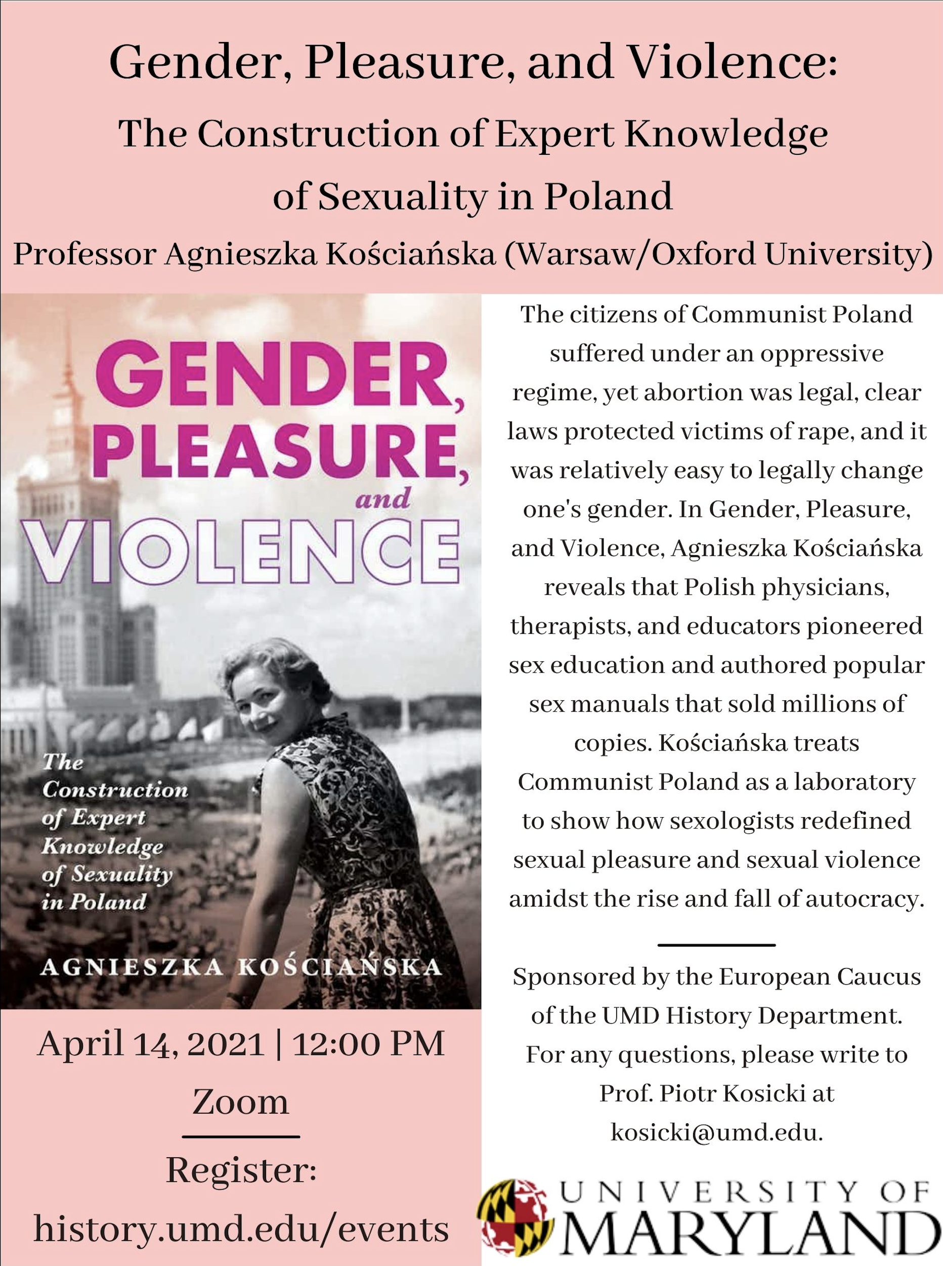 Gender, Pleasure, and Violence event on April 14, 2021