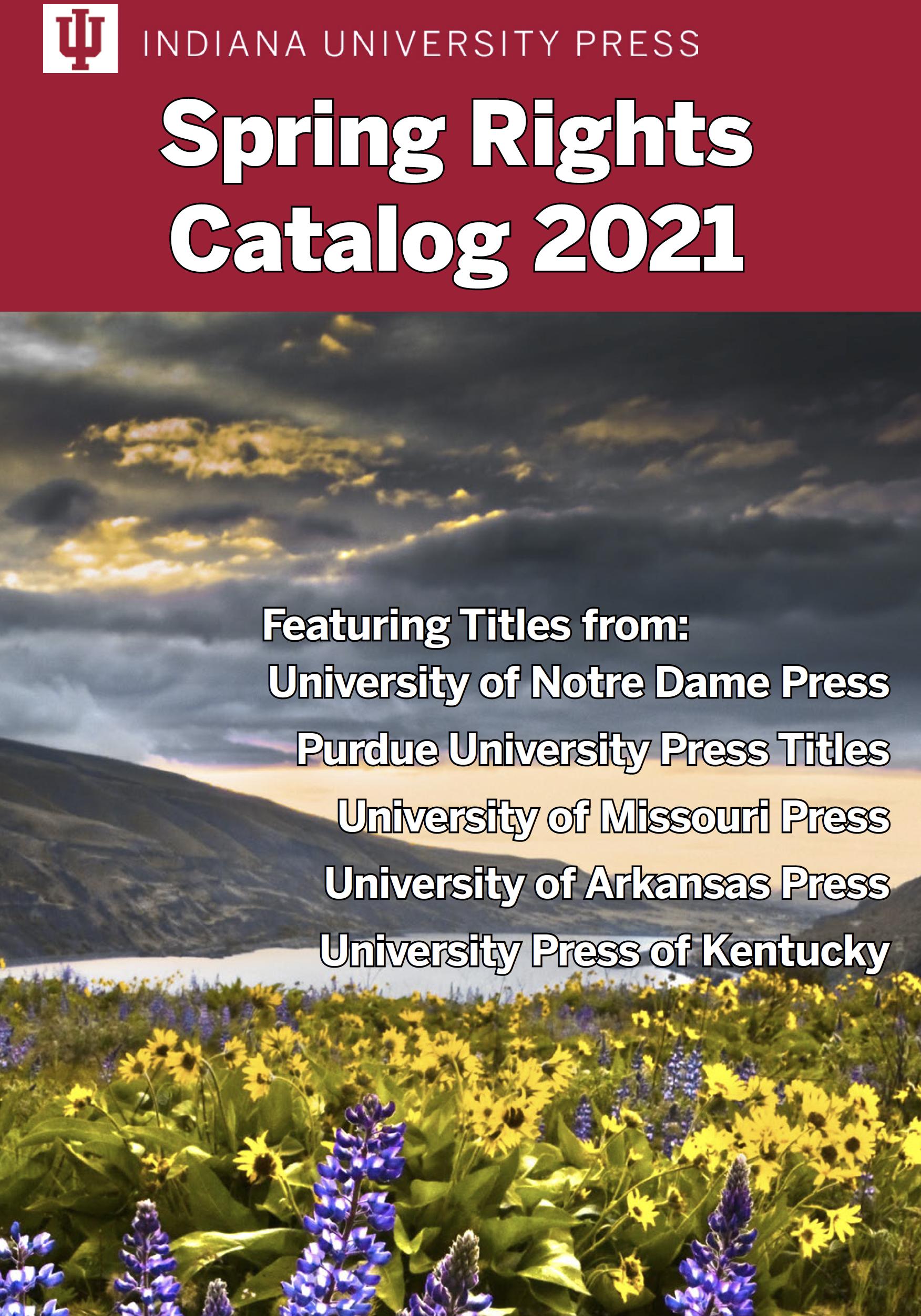 IU Press Rights Catalog - Spring 2021