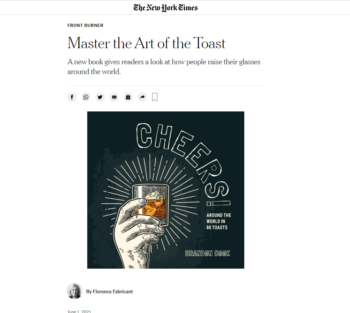 Cheers! featured in The New York Times