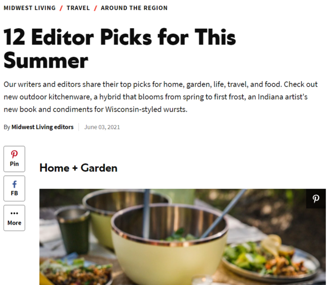 Midwest Living article