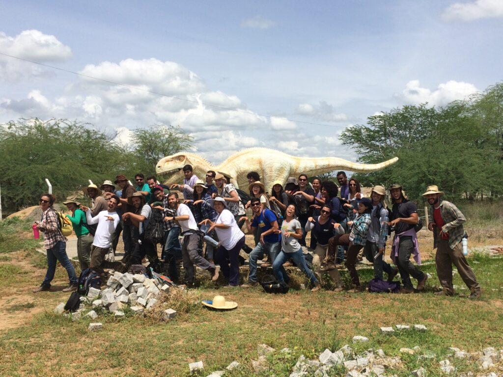 Students at the Sousa Dinosaur Park