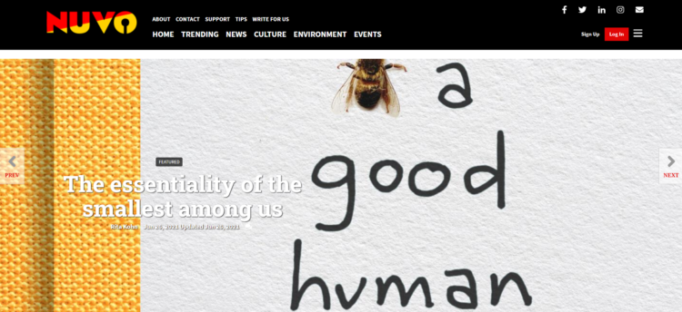 Bee A Good Human NUVO article