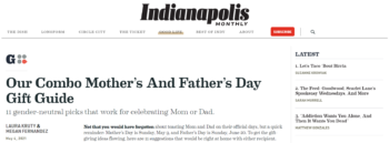Cheers! featured in Indianapolis Monthly