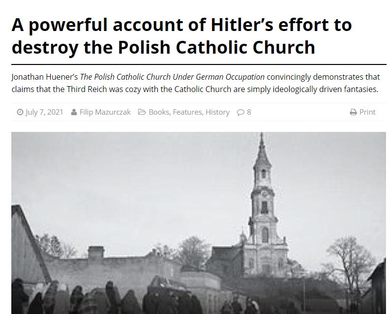 The Polish Catholic Church under German Occupation article