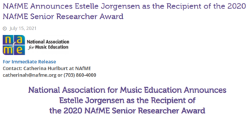 Values and Music Education featured in National Association for Music Education