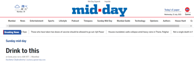 Cheers Mid day article