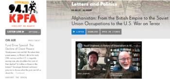 Modern Afghanistan featured in KPFA Radio
