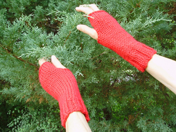 Knit & Nibble Cozy Hands Fingerless Gloves Pattern