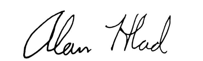 Alan Hlad signature