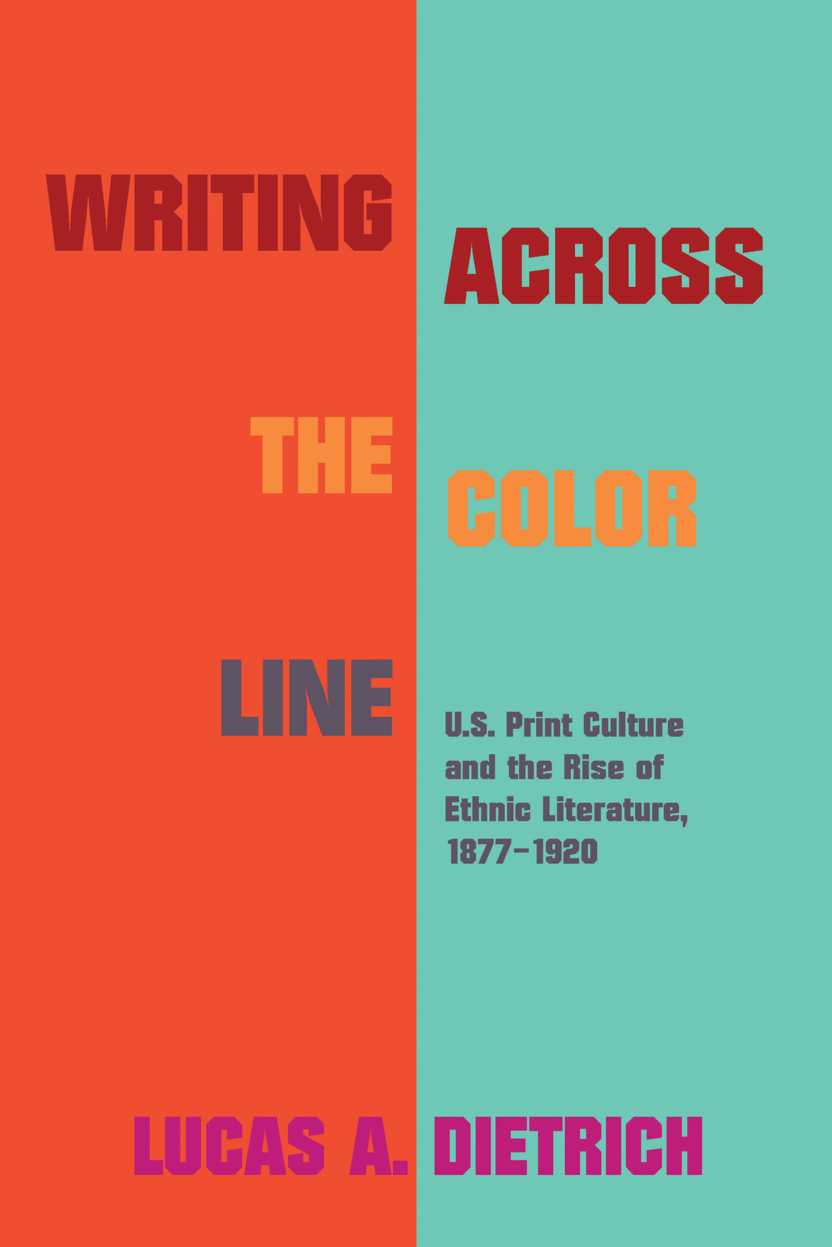 Writing across the Color Line cover