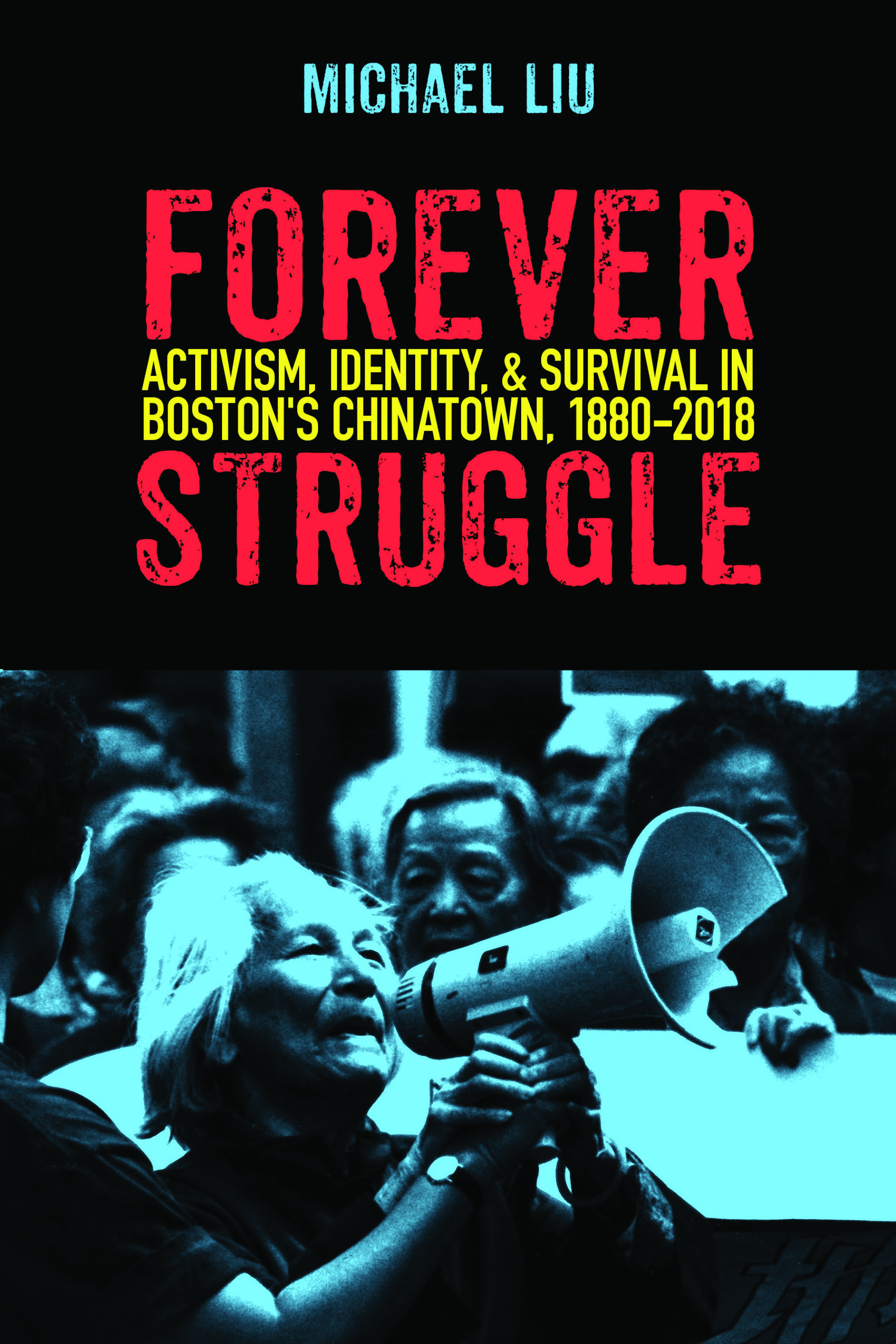 Book cover featuring image of Asian American activists