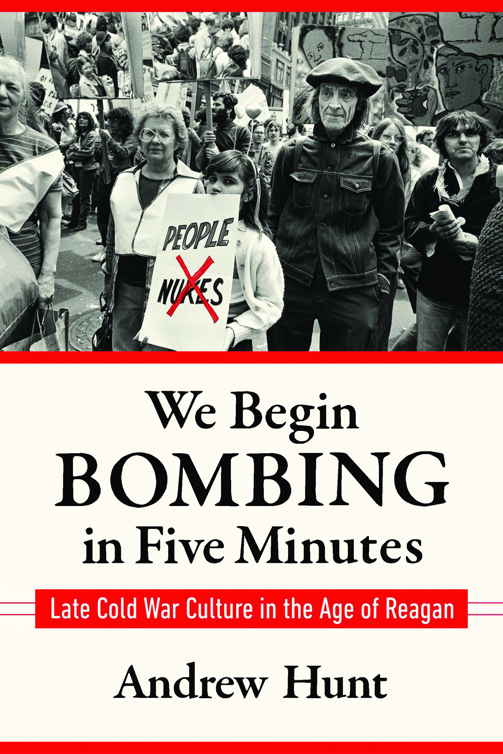 book cover, with images of protesters