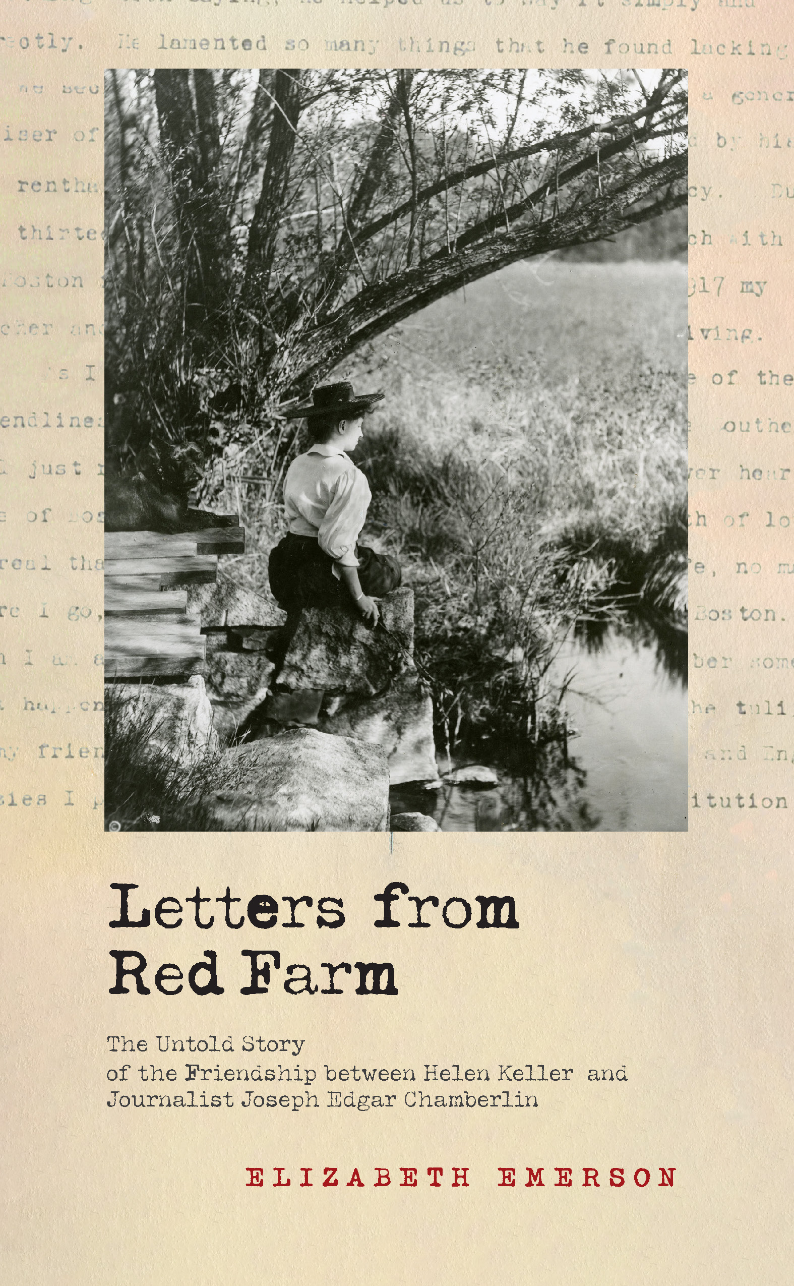 book cover, with photo of Helen Keller facing a pond