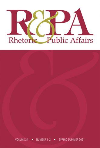 Rhetoric & Public Affairs cover